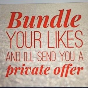 Other - Bundle your likes for a private offer!